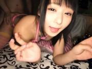 初心な黒髪ロング美少女が薄暗い部屋で乱暴な手マンにアソコがびしょ濡れ